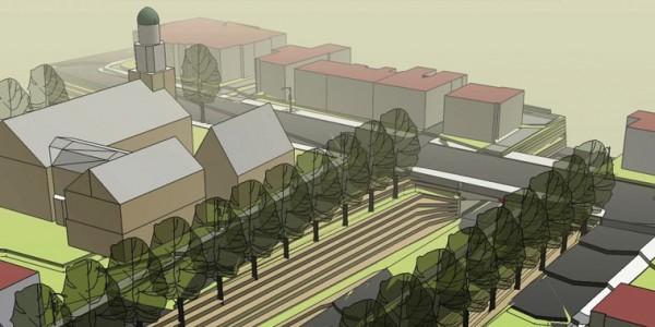 Newburyport Development over Route 1 Underpass